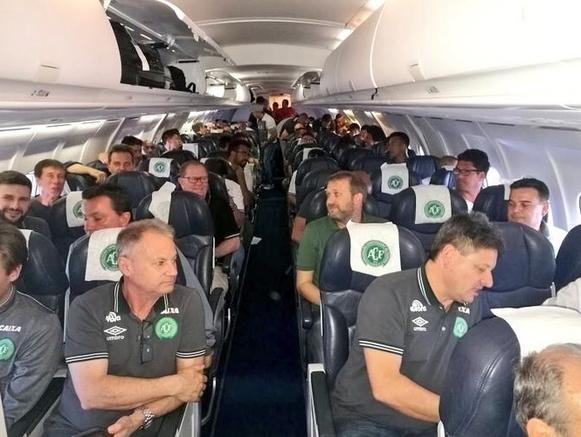 Aviao com equipe da chapecoense
