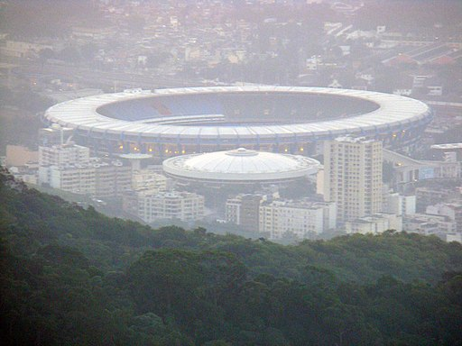 Estádio do maracanã from mountain