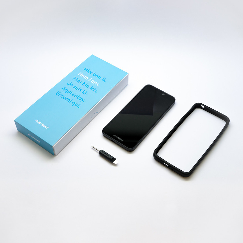 Fairphone 3 embalagem